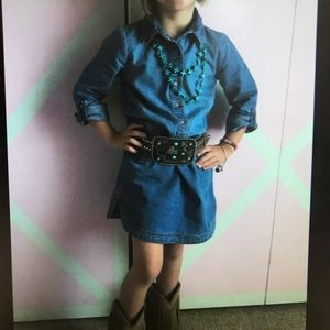 Carters Girls denim dress Sz 5